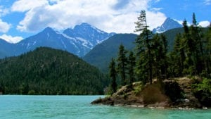 Diablo Lake with Mountains at North Cascades National Park