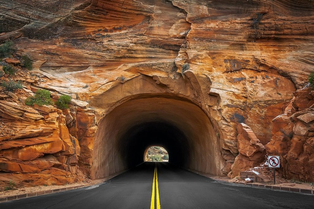 Tunnel in Zion National Park, Springdale