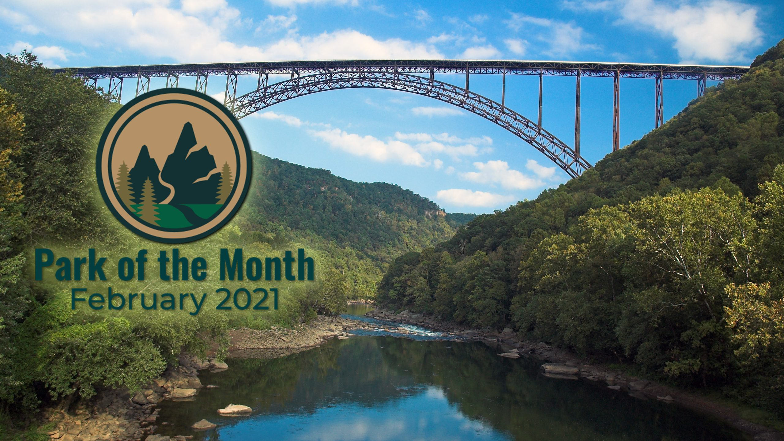 The New River Gorge Bridge spanning the New River and the gorge