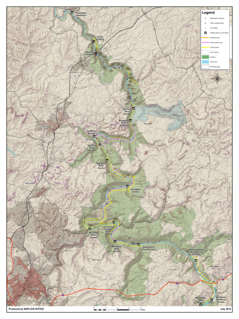 new river gorge river access map