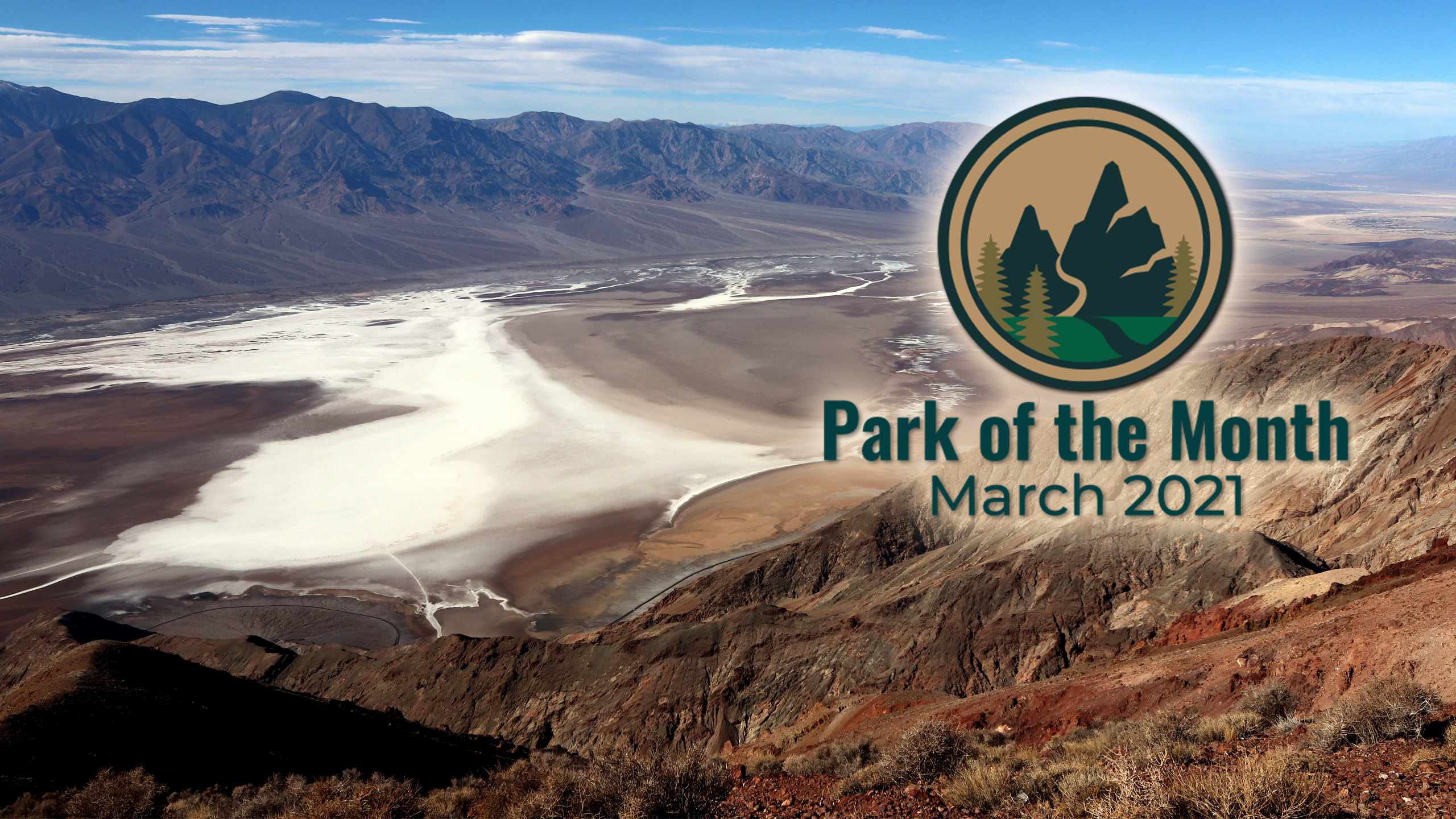 Image of the salt basin and extended valley floor beneath the mountains in Death Valley National Park