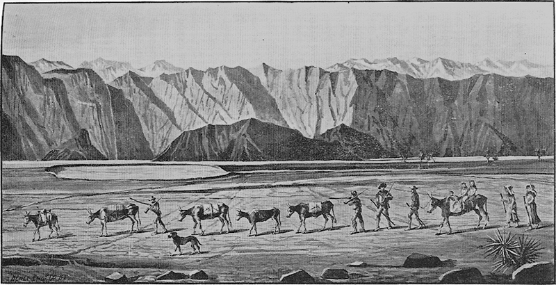 Image of the last of the Lost '49ers leaving Death Valley