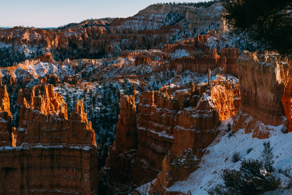 View of the Bryce Amphitheater in Winter