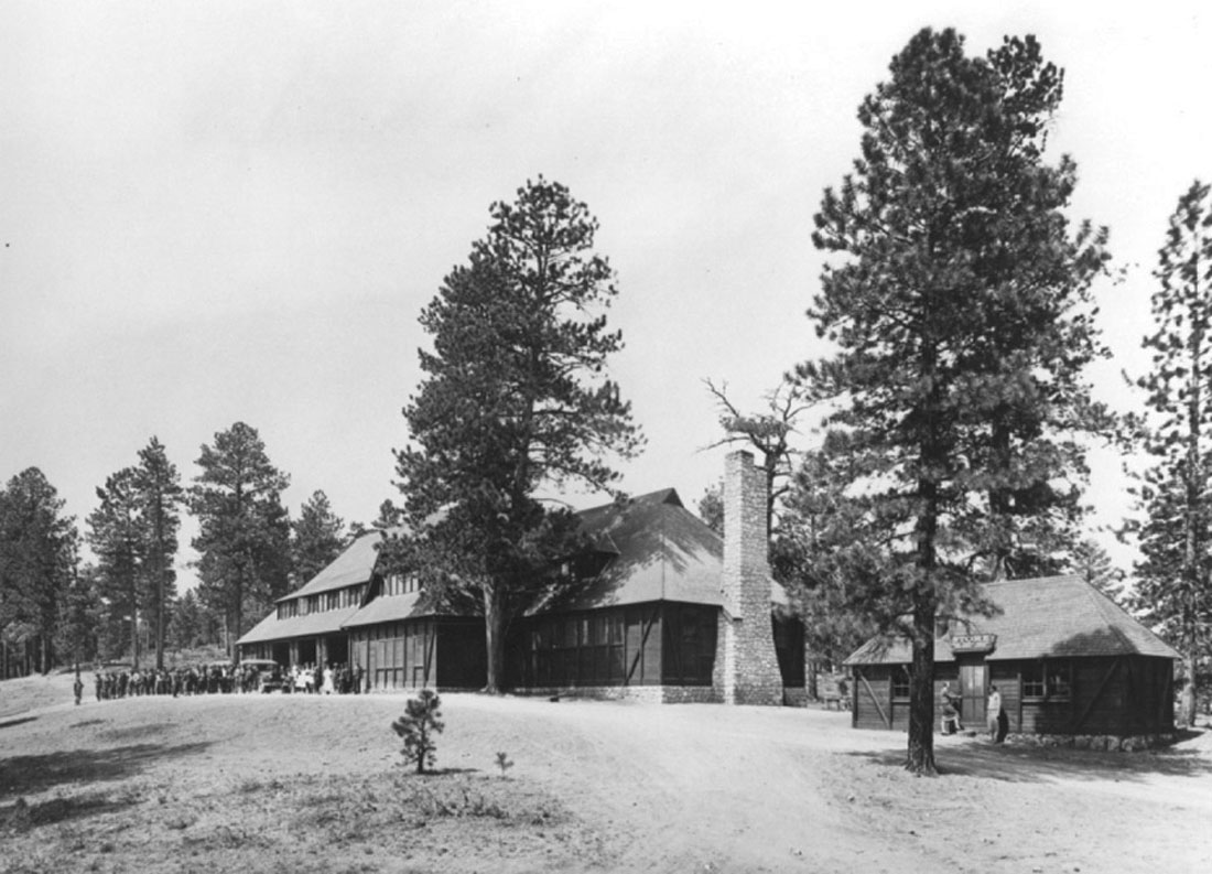 Early View of the Bryce Canyon Lodge, c. 1925