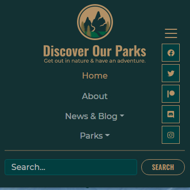 Website Version 2.0 Mobile Menu Preview with new website look and feel