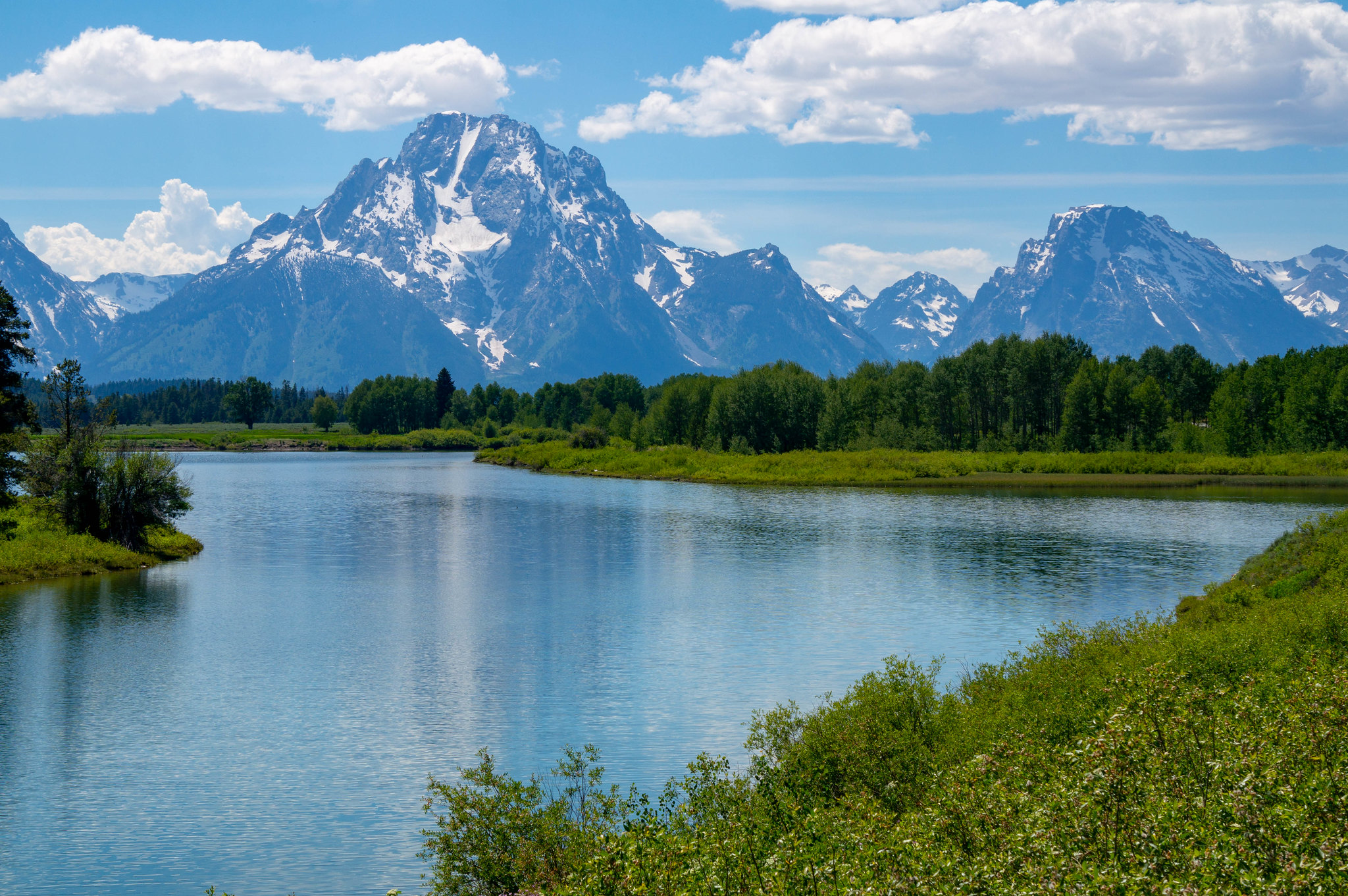 View of The Tetons in Grand Teton National Park